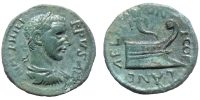 PHILIP I, AE 20mm, COELA IN CHERSONIC THRACE, PROW REVERSE, cf VARBANOV 2938