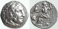 ALEXANDER III (THE GREAT), POSTHUMOUS ISSUE c.310-301 BC, DRACHM, ABYDOS MINT, PRICE 1551