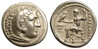 ALEXANDER III (THE GREAT), TETRADRACHM, POSTHUMOUS ISSUE, PELLA MINT, PRICE 501