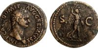 DOMITIAN, AS, ROME MINT, VICTORY, RIC 211