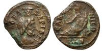 TIME OF JULIAN II. FESTIVAL OF ISIS, AE4, ALEXANDRIA MINT, SERAPIS/RECLINING NILE, ALFOLDI pl4, 36, VERY RARE