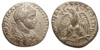 ELAGABALUS, SYRO-PHOENICIAN TETRADRACHM, DRAPED AND CUIRASSED BUST, EAGLE WITH STAR BELOW, PRIEUR 264, SCARCER BUST TYPE